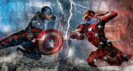 Arte promocional dos dois heróis em combate: ex-amigos.