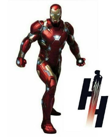 Homem de Ferro e sua nova armadura.