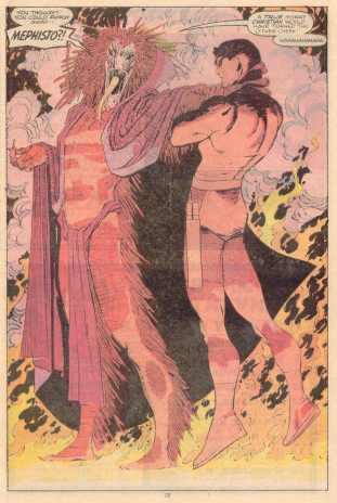 Mefisto e o Demolidor: dois demônios.