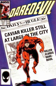 Bela capa de Keith Pollard para Daredevil 242.