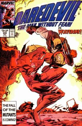 Demolidor versus Wolverine na edição 249.