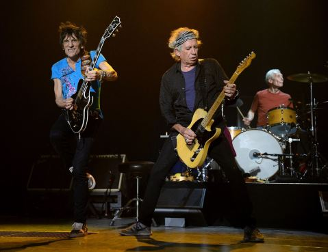 Ron Wood, Keith Richards e Charlie Watts.