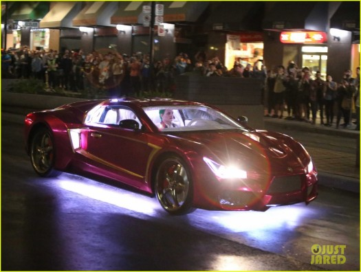 ... e o carro do Coringa.