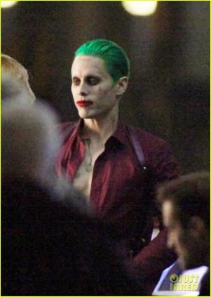 Jared Leto como o Coringa nos sets de Esquadrão Suicida.