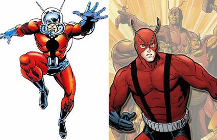 O Homem-Formiga e o Gigante nos quadrinhos: duas identidades usadas por Hank Pym. No cinema, será Scott Lang.