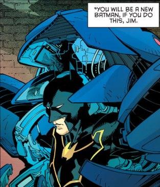 Batman saindo da armadura.