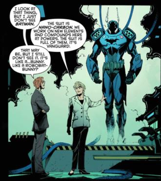 Gordon e a armadura: novo Batman.