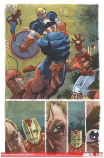 ... que resulta numa pequena luta com os Vingadores.