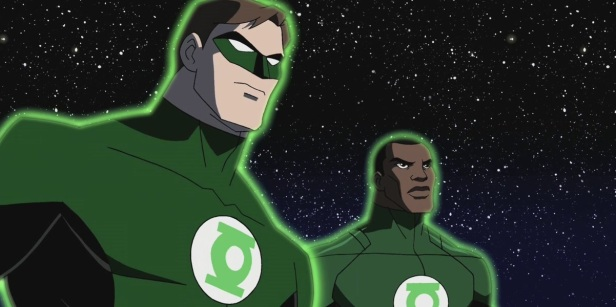 green lantern hal jordan and john stewart in cartoon version