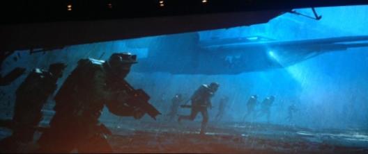 Arte conceitual de Rogue One: filme de guerra.