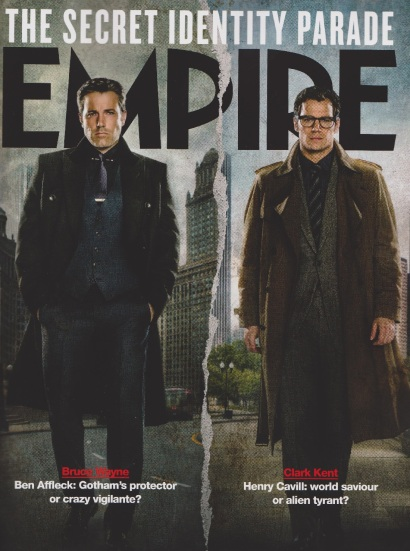 Capa variante da Empire, com as versões civis de Batman e Superman.