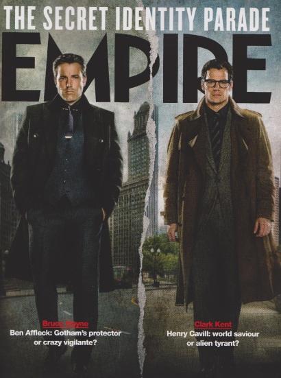 Capa variante da Empire, com as versões civis de Batman e Superman.