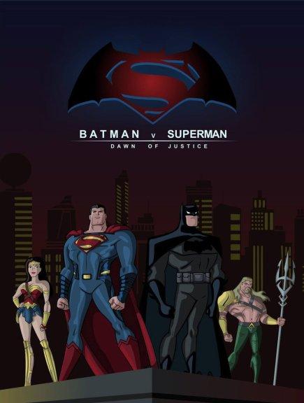 Os heróis do filme em versão cartoon: a Liga da Justiça vem aí...