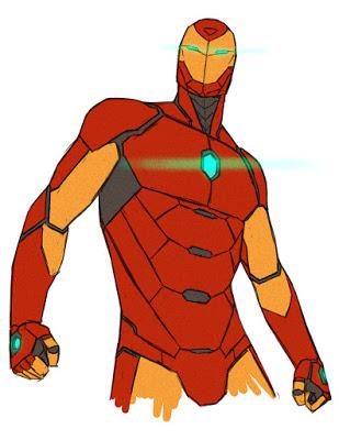 O Homem de Ferro na arte de David Marquez: recode.
