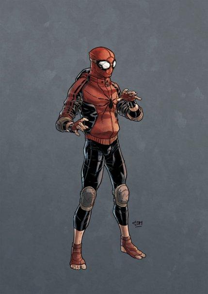 Versão caeeira da roupa do Homem-Aranha que circula na net.