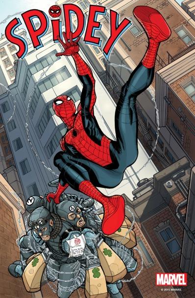 A capa de Spidey 01: herói adolescente.