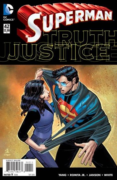 Capa de Superman 42: segredo revelado. De novo.
