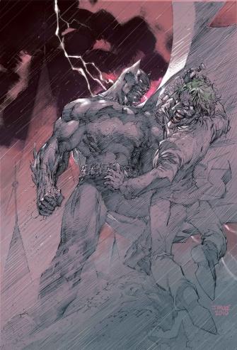Arte de Jim Lee para Batman: Europa.