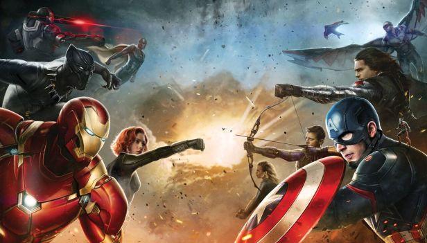 Os heróis em conflito em Guerra Civil.