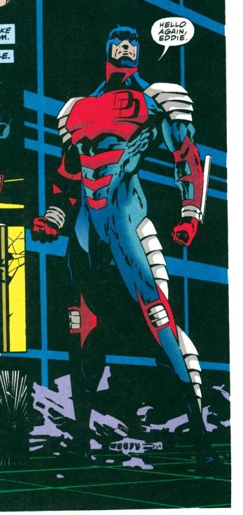 O Demolidor de armadura, na arte de Scott McDaniel.