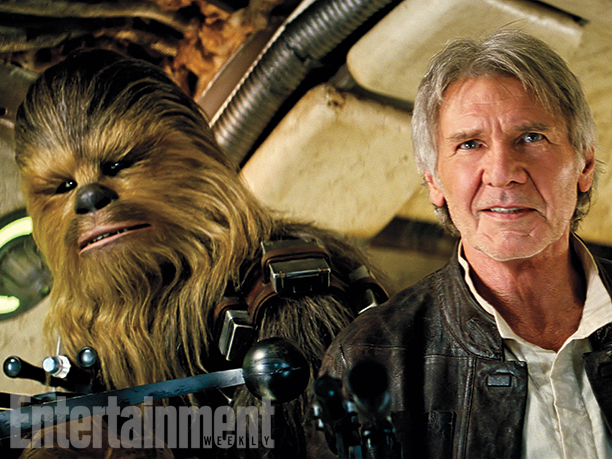 Star-Wars-VII official han solo and chewie