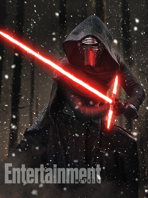 Star-Wars-VII official kylo ren and lightsabre