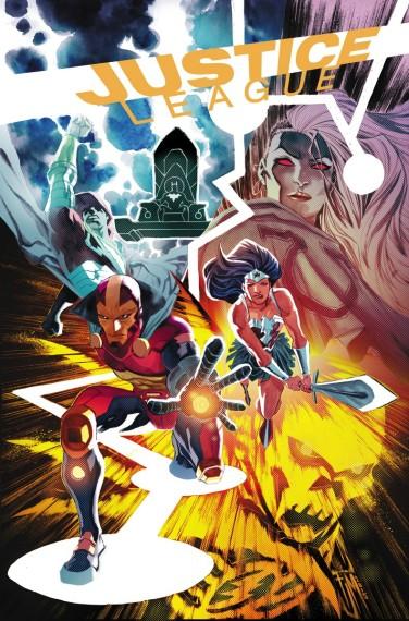 Capa de Justice League 45, a ser lançada em outubro.