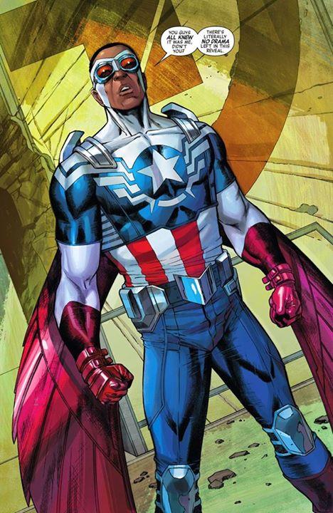 O Falcão como Capitão América.