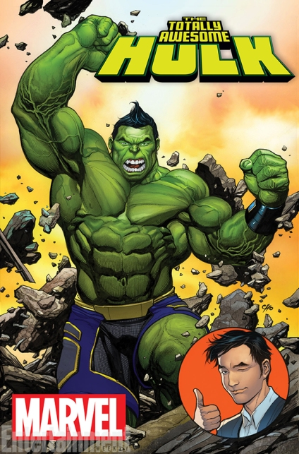 Capa de Totally Awesome Hulk 01. Arte de Frank Cho.