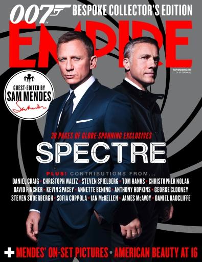 Bond e Oberhouser na capa da Empire: outro grande filme de 007.