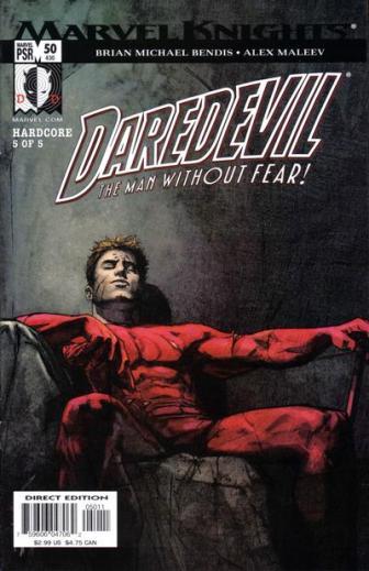 Bela capa de Daredevil 50 por Alex Maleev.