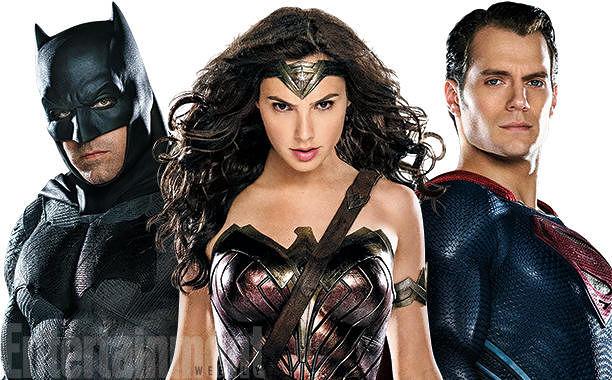 A trindade da DC Comics no filme.
