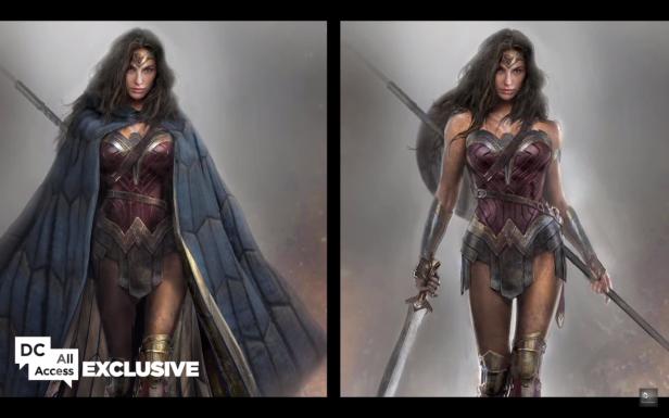 dawnofjustice wonder woman design with cape