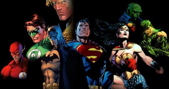 A Liga da Justiça nos quadrinhos. Arte de Jim Lee.