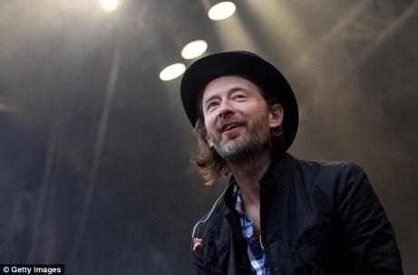 Thom Yorke no Festival de Glastonbury.