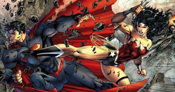 wonder woman vs superman by jim lee new 52