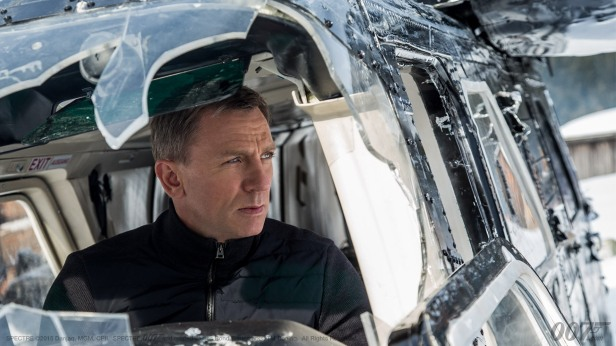 007 spectre bond in the helicopter