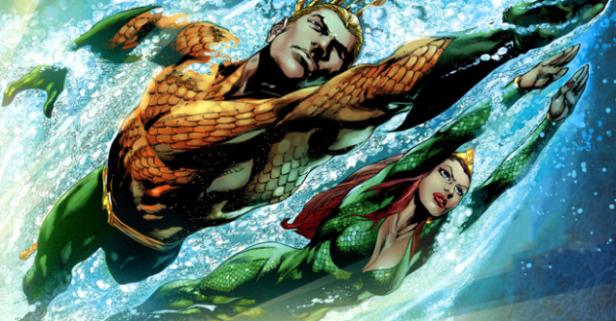 Aquaman e Mera na arte do brasileiro Ivan Reis.