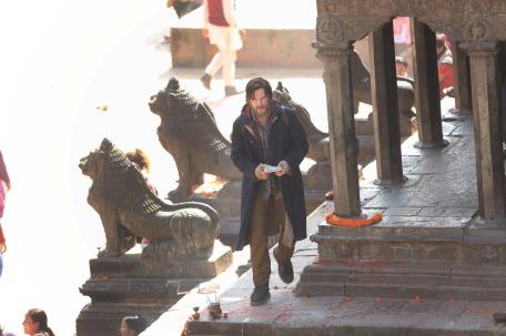 Imagens das gravações no Nepal.