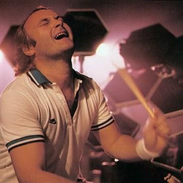Na bateria nos anos 1980.