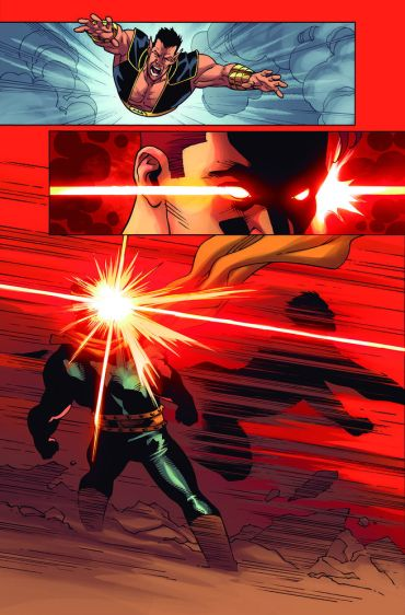 A cena da luta divulgada pela Marvel...