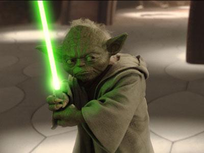 Yoda em ação pela primeira vez!