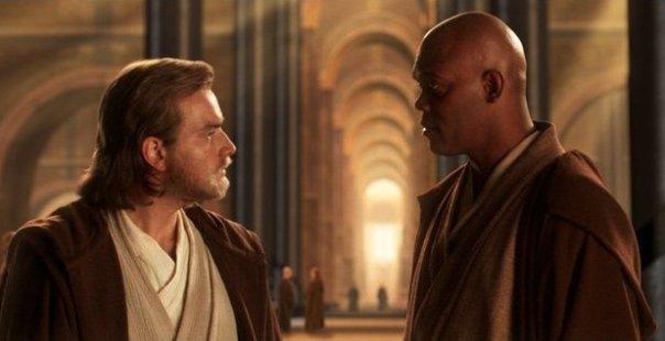 Obi-Wan e Mance Windu: tensão no Conselho Jedi.