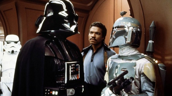 Vader, Lando e Boba Fett.