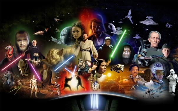 Os personagens de toda a saga.