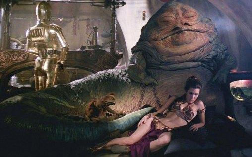 Leia feita escrava de Jabba the Hut.