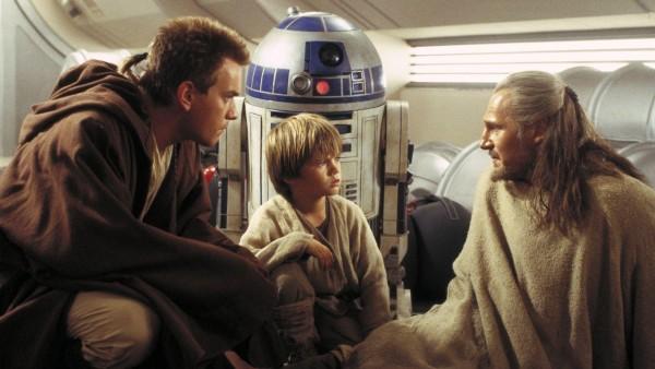 Obi-Wan, RD-D2, Anakin e Qui-Gon.