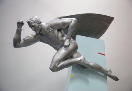 Design prévio da estátua.