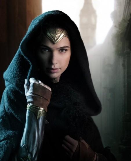 A primeira imagem da heroína nos sets.