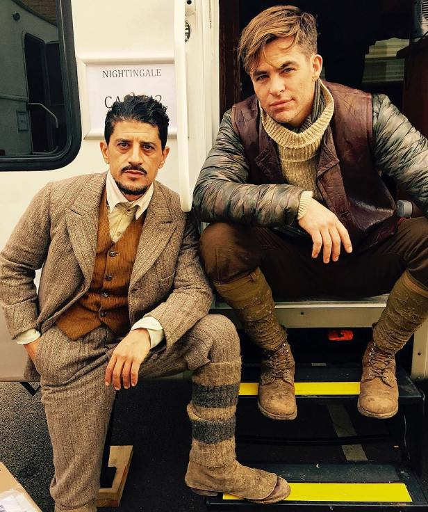 wonder-woman movie fisrt set photo said taghmaoui and chris pine